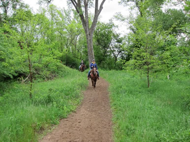 trail riding at Dakota Stables