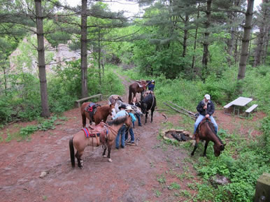 Dakota Stables trail ride on horses