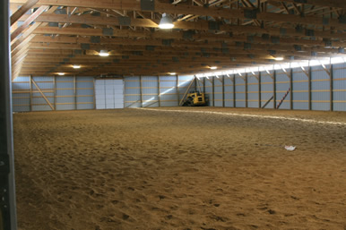 Dakota Stables horse arena