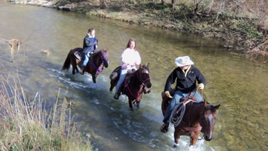 trail ride with Dakota Stables